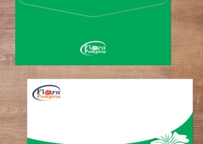 Envelope Carta Flora Pompéia